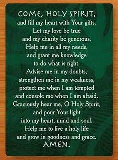 Image result for Litany to the Holy Spirit prayer