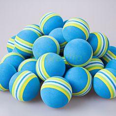Free Shipping 100pcs/bag Blue Rainbow EVA Foam Golf Balls Sponge Indoor Outdoor Practice Training Aid Swing Backyard