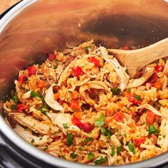 Instant Pot Chicken and Rice Instant Pot Chicken And Rice Recipe, Instant Pot Dinner Recipes, Chicken Rice, Rice Recipes, Chicken Recipes, Cooking Recipes, Healthy Recipes, Recipies, Keto Recipes
