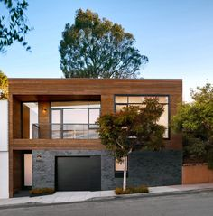 grey siding exterior contemporary with metal deck railing ...
