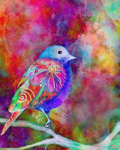watercolor and digital collage by Robin Mead