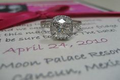 Cushion Cut in micro-pave halo