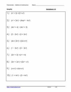 Worksheets Classifying Polynomials Worksheet add and subtract polynomials coloring worksheet the top colors 5 adding subtracting polynomial worksheets