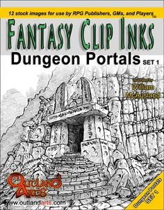Dungeon Portals set 1 - Fantasy Clip Inks by Outland Arts Dungeon Portals set 1 illustrated by William McAusland product number: See a Ink Art, Portal, Fantasy, Illustration, Image, Rpg, Illustrations, Fantasy Books, Fantasia