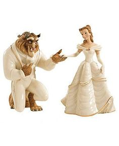 Lenox Collectible Disney Figurine, Beauty and the Beast My Heart is Yours - Collectible Figurines - for the home - Macy's Bridal and Wedding Registry on Wanelo