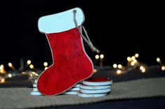 Excited to share the latest addition to my #etsy shop: Santa christmas wooden ornaments, Set of 5 boots ornaments, Christmas tree ornaments, Rustic ornaments, Christmas decor, Holiday decoration http://etsy.me/2AufdRm