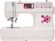 Yes the Janome is an entry level sewing machine, but don't be fooled! This is still a very capable machine. Sewing Machine Brands, Sewing Machine Reviews, Last Stitch, Juki, Monogram Fonts, Janome, Buttonholes, Machine Embroidery, Entry Level