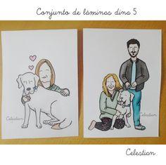 ilustraciones Celestian #handmade #familia  www.celestianshop.com