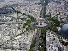 Arc de Triomphe and the Place d'Etoile...where the shuttle will drop me off :)