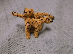 crochet cheetah amigurumi micro crochet cheetah by SalemsShop