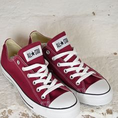 Ox blood red converse