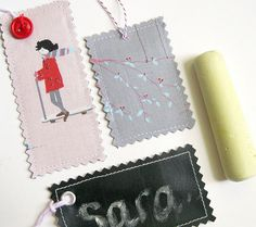 #sew these gorgeous reusable gift tags great for #christmas