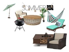 """summer barbeque"" by taytaybean03 ❤ liked on Polyvore featuring interior, interiors, interior design, home, home decor, interior decorating, Yellow Leaf Hammocks, TradeMark, Bodum and AK47"