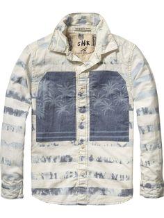Indigo Feel Shirt |Shirt l/s|Boys Clothing at Scotch & Soda