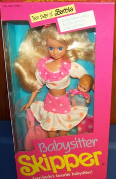 1990 Mattel Babysitter Skipper - Teen sister of Barbie