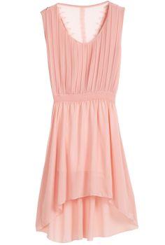Pink Sleeveless Bandeau High Low Chiffon Dress - Sheinside.com