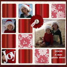 "Christmas ""Joy"" Scrapbooking Page...MamaK321 - A Cherry On Top."