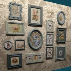 French Vintage Retro Shabby Chic Photo Picture Frame Collection Set
