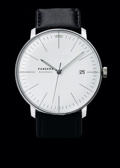 Panzera B44-02 ARCTIC.  Bauhaus design with a Miyota 8215 movement and exhibition caseback.  Visually similar the Junghans Max Bill but priced closer to the Junkers Bauhaus.  Significantly larger at 44mm (??!) (vs 38 and 40mm) but priced at ~$400.