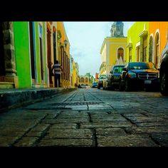 Calles de Campeche. #México #Centro #Histórico #Color #Travel #Turismo #Calles