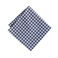 Cotton pocket square in gingham : pocket squares | J.Crew