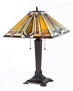 Arts & Crafts Eda Stained Glass Table Lamp