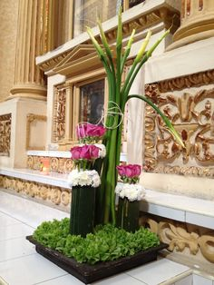 Arreglo Floral en Iglesia de Cholula, Puebla