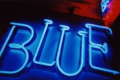 """""""blue"""" neon sign"""