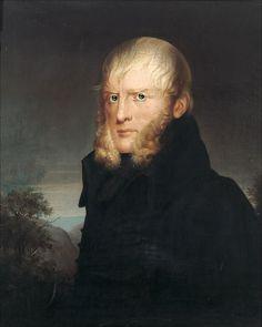 Albert Freyberg, Portrait of Caspar David Friedrich, 1840