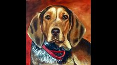 """Painting the hound dog """"Ellie Mae"""" in oil on an 18 x 18 canvas. Painting Videos, Hound Dog, Dog Portraits, Artist Painting, Oil, Canvas, Youtube, Animals, Tela"""