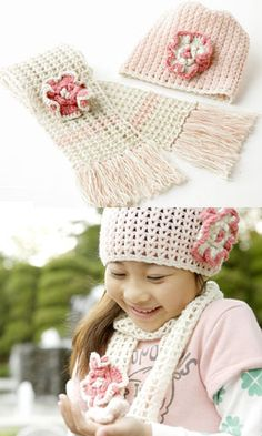Hat and Scarf Set free crochet graph pattern