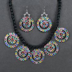 Silver Choker Necklace, Necklace Set, Beatnik, Handmade Jewelry Designs, Oxidized Silver, Rustic Charm, Earring Set, Crochet Necklace, Chokers