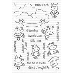 Clearly Besotted TROUBLE IN A TUTU Clear Stamp Set