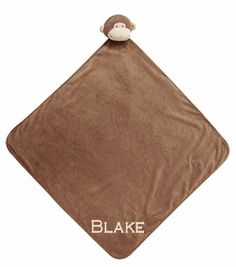 "Napping Blankets measure a generous 29"" x 29."" Soft to snuggle up with, machine-washable and cashmere-soft. A Little Bit Of This Cashmere Soft Monkey Nap Blanket (29""x29""). Click the image to get more information about the product, including personalization options, at our online store!"