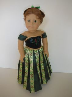 Anna's Coronation Gown from the Disney Movie Frozen by DollWardrobeClothier via Etsy SOLD 5/17/14 $70.00