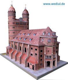 Pauluskirche Ulm Paper Model
