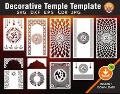 10 Temple Template Wall Hanging Partitions screen Stencil | Etsy