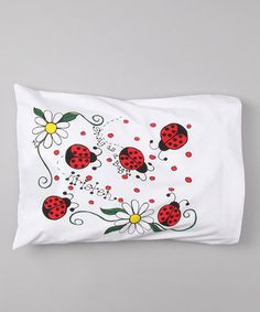 Ladybug Personalized Toddler Pillow by Bunnies and Bows on #zulily today!