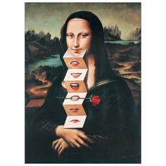 Mona Lisa, Art Print by Rafal Olbinski Le Sourire De Mona Lisa, Photomontage, Mona Lisa Smile, Mona Lisa Parody, Psy Art, Paul Gauguin, Arte Pop, Magritte, Italian Artist