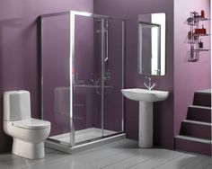 very small bathroom ideas | ... Small Bathroom Ideas: Simple and Efficient » Purple Small Bathroom