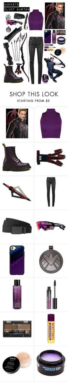"""""""Hawkeye / Clint Barton"""" by lexisamskywalker on Polyvore featuring WearAll, Dr. Martens, Bow & Arrow, Yves Saint Laurent, Billabong, Oakley, Casetify, Marvel, Victoria's Secret and Charlotte Russe"""