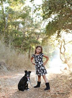 Girl and her puppy, child photography, ©Misty Exnicios