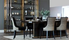 An aesthetically pleasing Luxury Dining Room can provide a clean and fun backdrop for meals to enjoy with family and guests. Dining Decor, Modern Dining Table, Dining Room Design, Top Interior Designers, Luxury Interior Design, Luxury Dining Chair, Sofa And Chair Company, Upholstered Dining Chairs, Upholstered Furniture