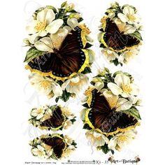 Papier Decoupage - Kwiaty Vintage Ks-35