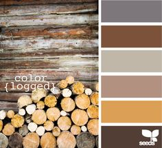 Palette de couleurs : bois - Color palette : wood
