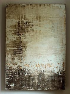 texture residues by Christian Hetzel - abstract mixed media painting on wood 150x104.5x10cm 2013