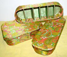 Vintage '70s Mod Paisley Hosiery Vanity Box by GrammysGoodys