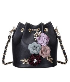 Excited to share the latest addition to my #etsy shop: Women's PU Leather Flower Drawstring Bucket Bag Crossbody Bag Shoulder Bag Purse https://etsy.me/2jhp5qi  #bagsandpurses #black #aromatherapy #craft #handmade #embroidary #blackleather #leatherhandbag #bestquality