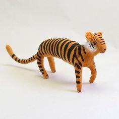 Vintage Style Spun Cotton Tiger by VintagebyCrystal on Etsy