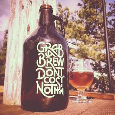 Finished my growler design! Come grab a beer!